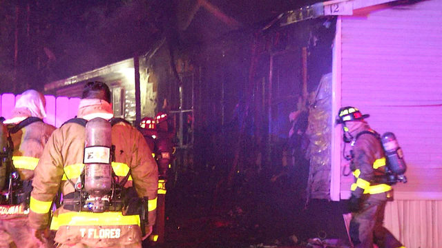 Trailer home destroyed by early morning fire