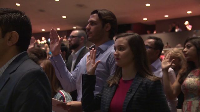 599 people from 79 countries become US citizens