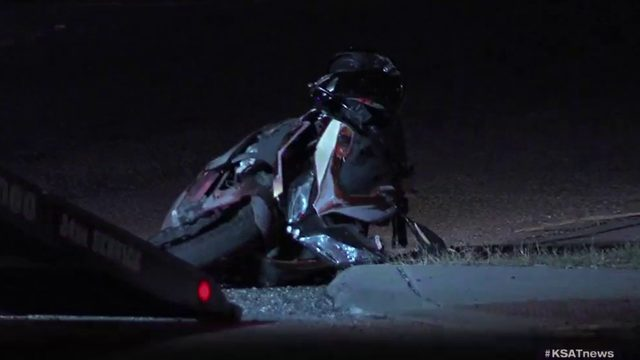Motorcyclist injured after being rear-ended