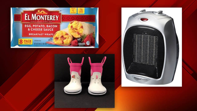 Breakfast burritos, flour, rain boots among list of recalls