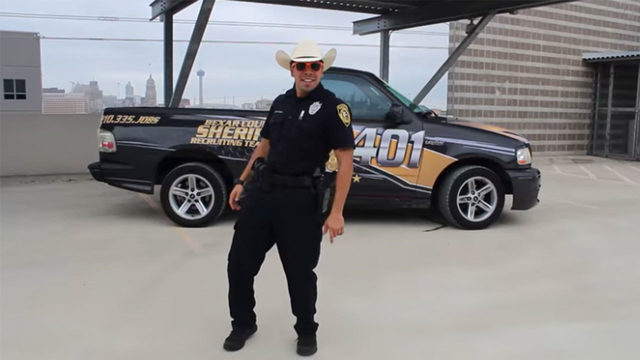 Dancing for jobs: BCSO deputy recruiting people with 'Git Up' challenge