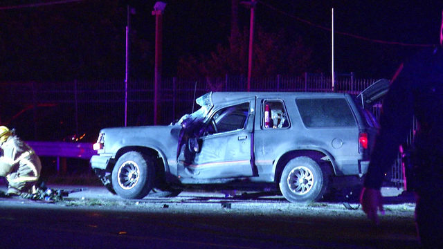 Man falls asleep while driving, gets pinned in vehicle crash