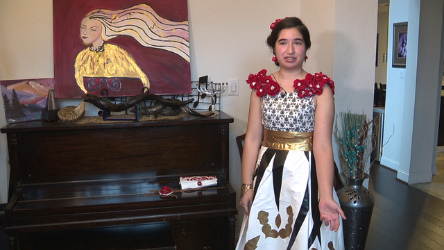 John Jay student designs prom dress out of duct tape