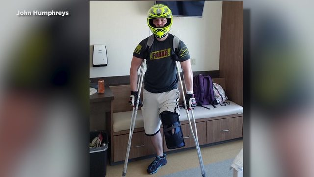 Injured motorcyclist lives to tell his story