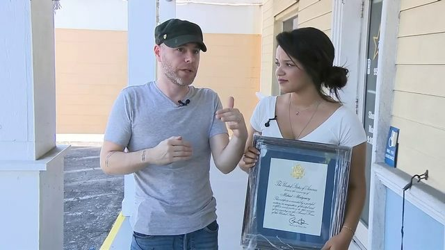 WPLG: Couple on mission to find family after plaque honoring fallen…