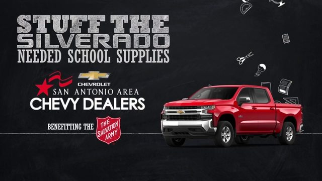 KSAT Community: Stuff the Silverado school supply drive