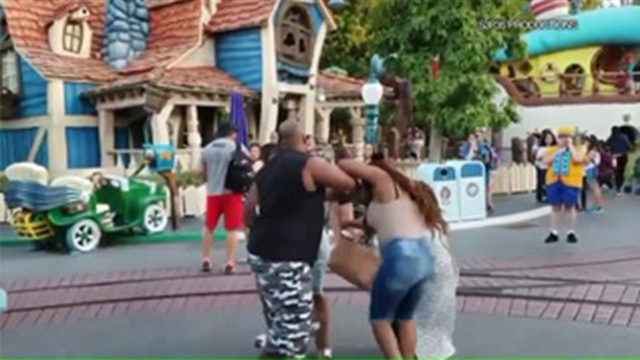 Violent family brawl breaks out at Disneyland as children watch