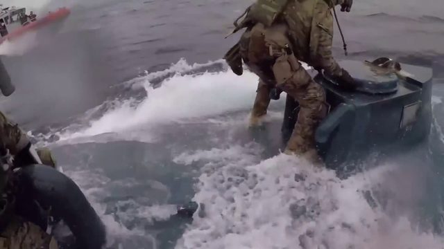 MUST WATCH VIDEO: Coast Guard conducts daring drug interception at sea