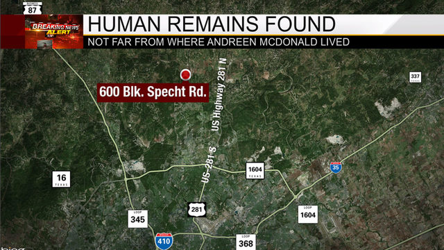 Human remains discovered on private property in north Bexar County, BCSO says