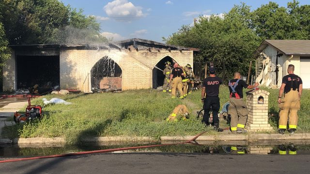 Man suffers burns in house fire caused by lit cigarette, firefighters say