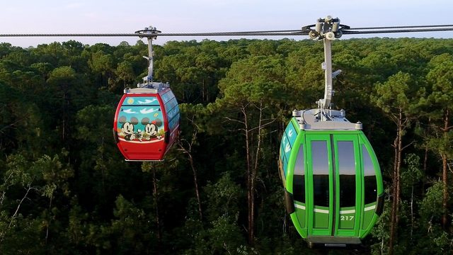 Riders get stuck on Disney World's new aerial cable cars
