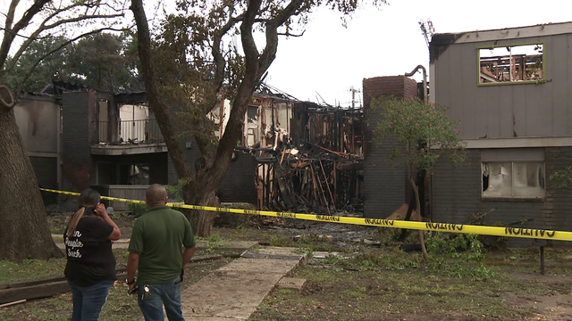 Families displaced after massive fire at North Side apartment complex