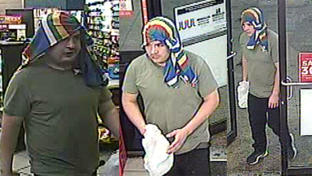 Man wearing rainbow-colored towel robs Circle K, reward offered
