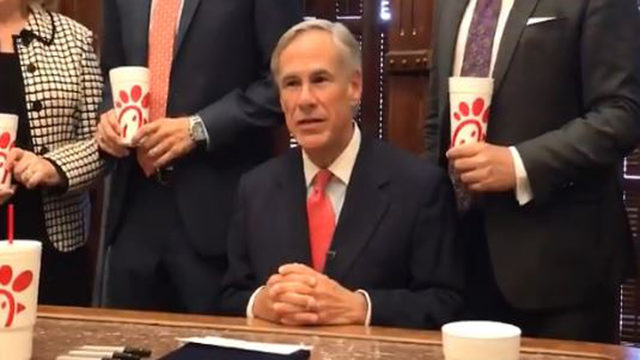 Texas Gov. Greg Abbott signs Chick-fil-A law