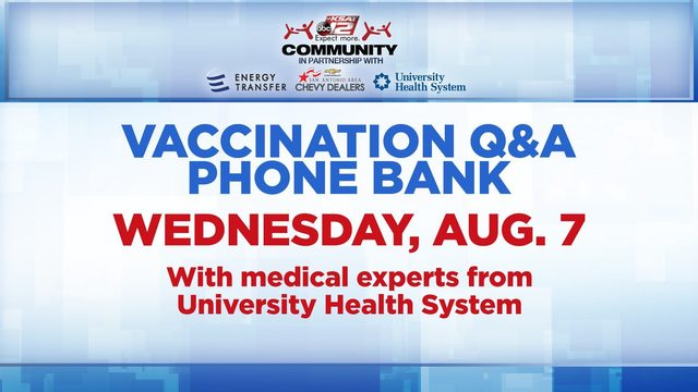 KSAT Community Vaccination Q&A Phone Bank Wednesday