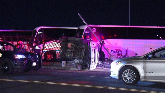 2 hospitalized in rollover crash on East Side