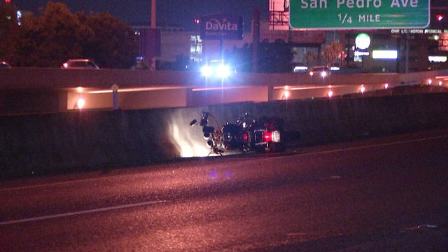 Motorcycle accident leaves man in serious condition