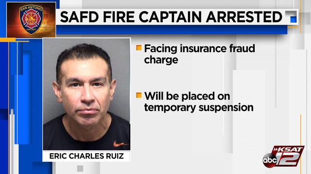 San Antonio Fire Department captain arrested on suspicion of insurance fraud