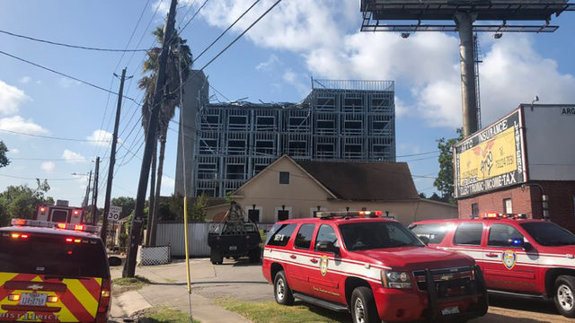 9 injured after roof collapses at Houston construction site