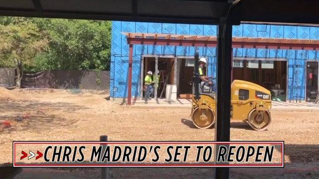 San Antonio's Chris Madrid's nears reopening