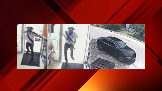 Man points shotgun at store clerk, demands money, police say