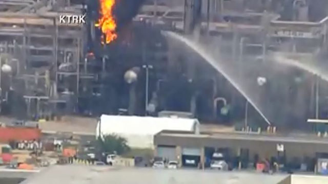 WATCH LIVE: Fire breaks out at Houston-area Exxon Mobil refinery