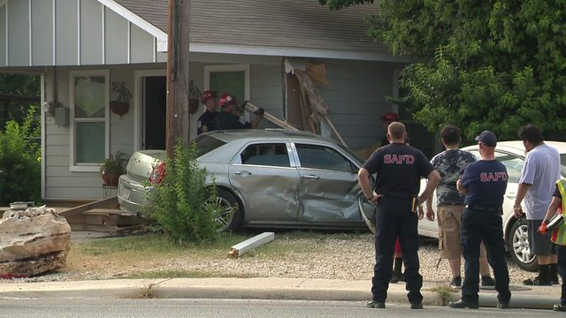 Crash sends car through Southwest Side home