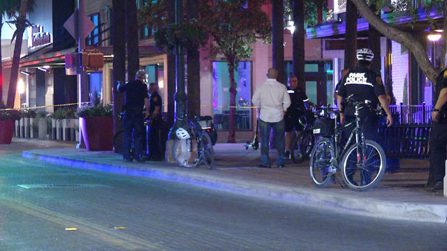 Bicyclist hospitalized after hit-and-run crash downtown, police say