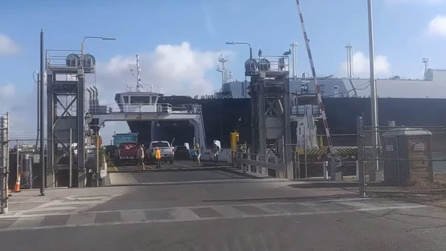 VIDEO: Port Aransas ferry evacuated as tanker sounds danger signal