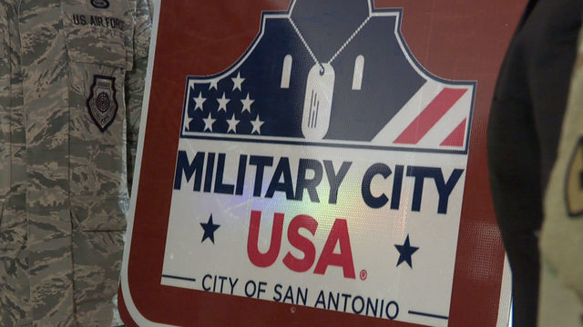 San Antonio unveils new 'Military USA' signs