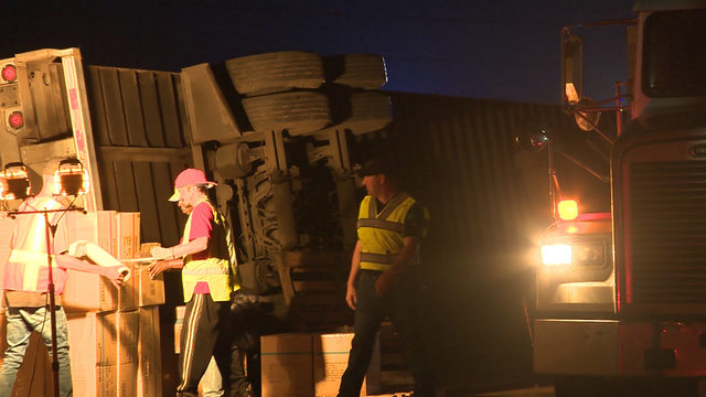 'While You Were Sleeping': Big spills, no problem for overnight freight handler