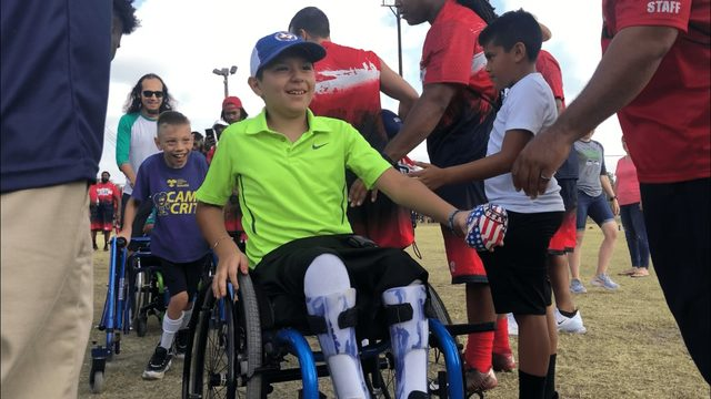 Football organization holds free camp for San Antonio children