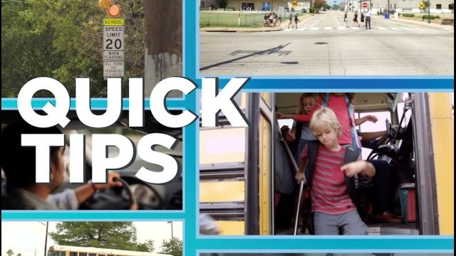 Quick Tips: Stay safe, avoid tickets in back-to-school traffic