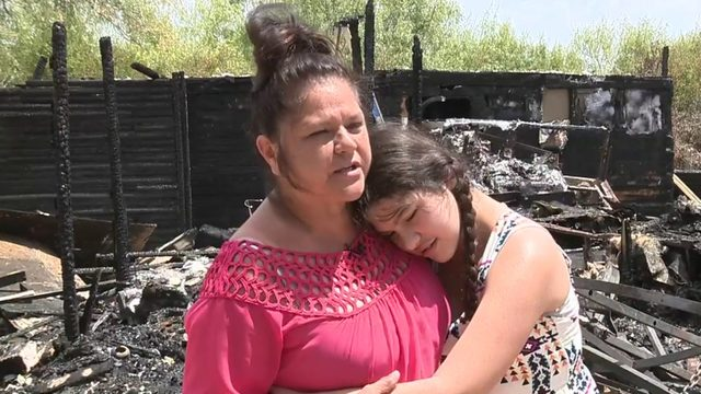 Burned out family in Poteet struggles to rebuild
