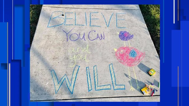 Schertz, Cibolo communities 'chalk the walk' for first day of school