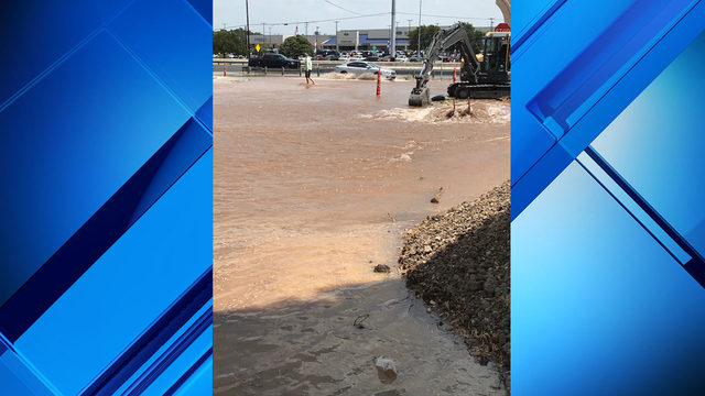 Water main break affects traffic on North Side