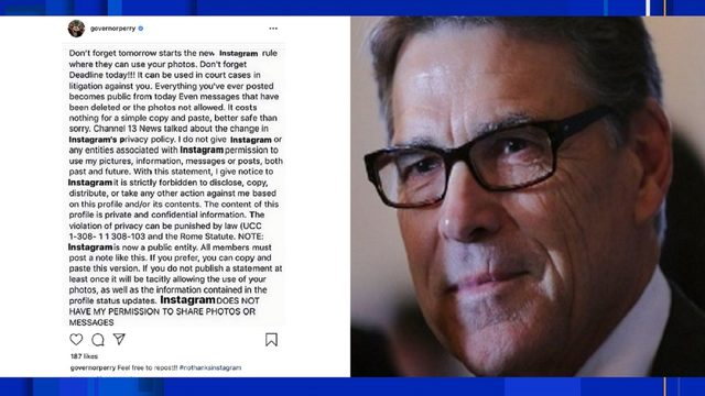 U.S. Energy Secretary, former Texas Gov. Rick Perry falls for Instagram hoax