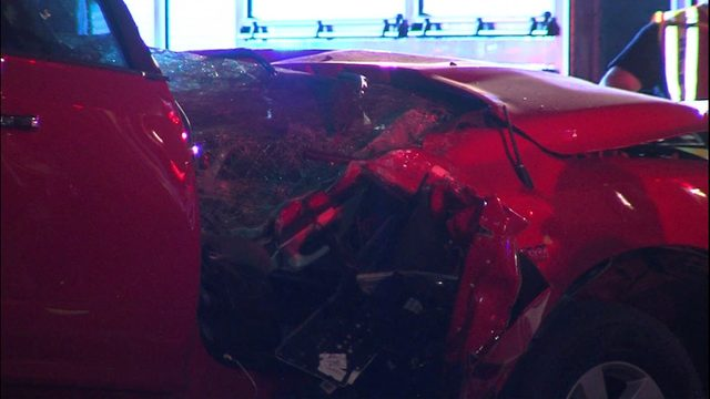 Jaws of Life needed to rescue man after overnight crash
