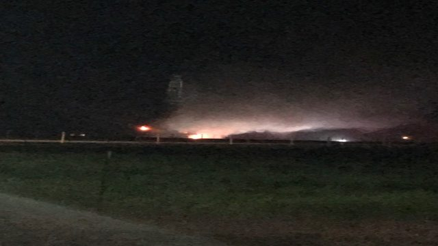 VIDEO: Oil rig fire forces evacuations in Karnes County