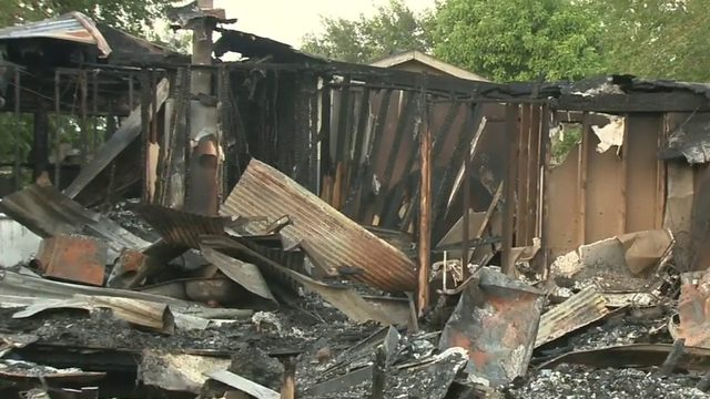 Family of nine displaced after fire destroys home