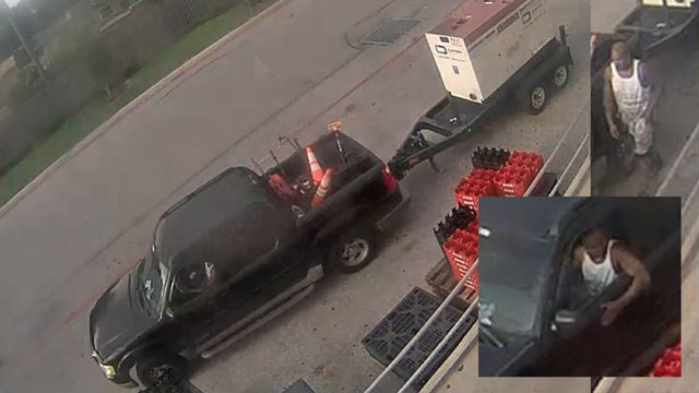 Man drives up to trailer with massive generator, steals it