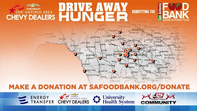KSAT Community Drive Away Hunger Food Drive