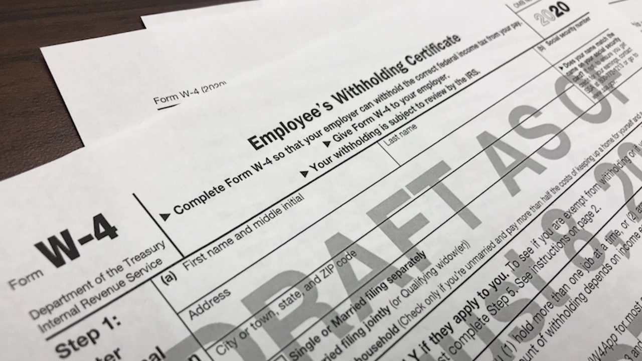 Changes are coming to W-4 form  Here's what you need to know