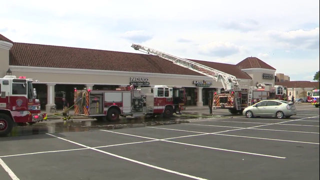 Fire near The Quarry prompts evacuations at restaurants, businesses