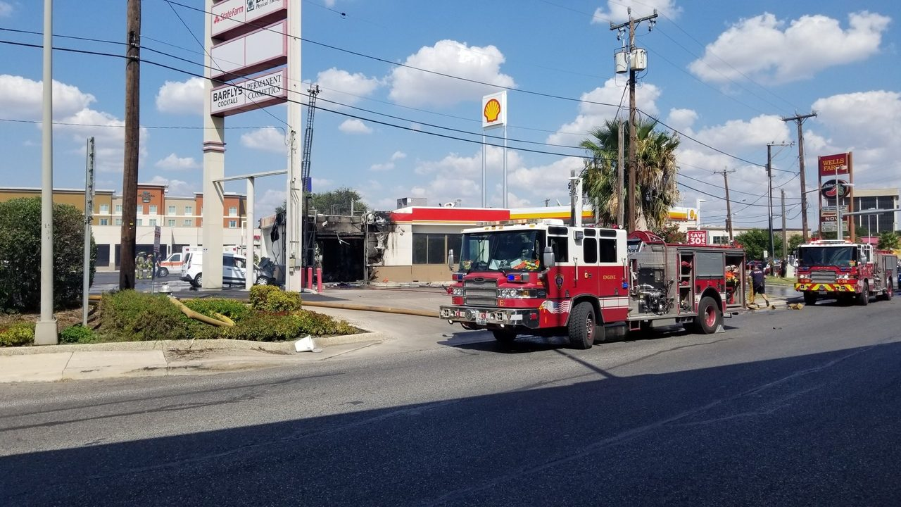 Two Alarm Fire Reported At San Antonio Gas Station