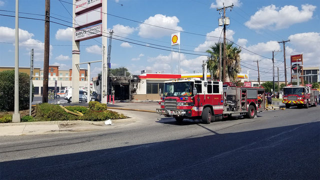 Two-alarm fire reported at San Antonio gas station