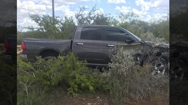 Truck stolen in SA found 100 miles south of city