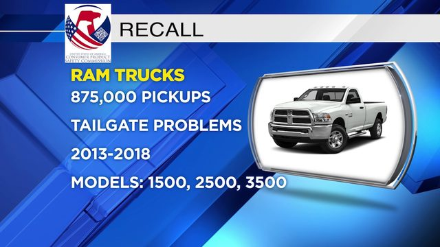 Ram pickups recalled for tailgate problem