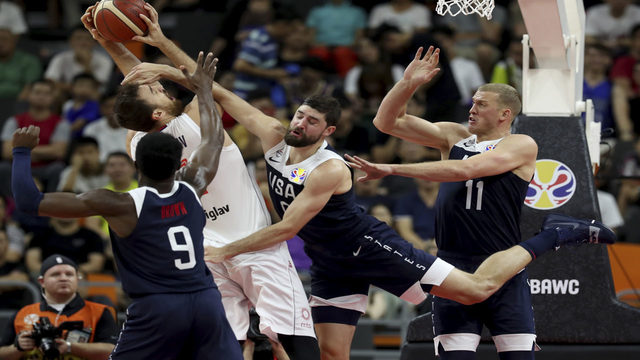 US clinches worst big-tourney finish, falls 94-89 to Serbia