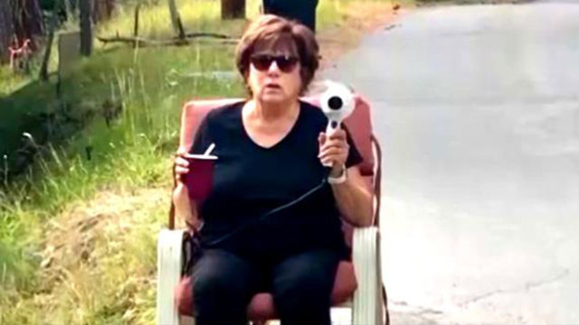 Grandmother wields hairdryer to try and stop speeders